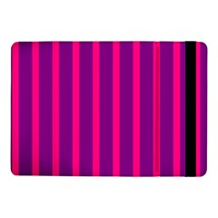 Deep Pink And Black Vertical Lines Samsung Galaxy Tab Pro 10 1  Flip Case