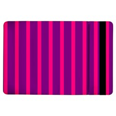 Deep Pink And Black Vertical Lines Ipad Air Flip