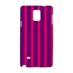 Deep Pink And Black Vertical Lines Samsung Galaxy Note 4 Hardshell Case