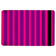 Deep Pink And Black Vertical Lines Ipad Air 2 Flip