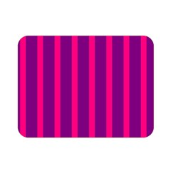 Deep Pink And Black Vertical Lines Double Sided Flano Blanket (mini)