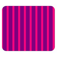 Deep Pink And Black Vertical Lines Double Sided Flano Blanket (small)