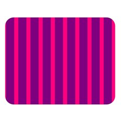 Deep Pink And Black Vertical Lines Double Sided Flano Blanket (large)