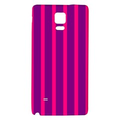 Deep Pink And Black Vertical Lines Galaxy Note 4 Back Case