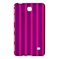 Deep Pink And Black Vertical Lines Samsung Galaxy Tab 4 (7 ) Hardshell Case