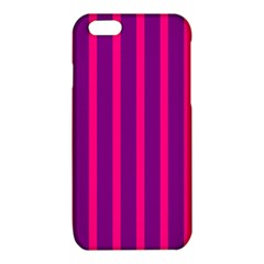 Deep Pink And Black Vertical Lines iPhone 6/6S TPU Case