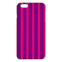 Deep Pink And Black Vertical Lines iPhone 6 Plus/6S Plus TPU Case