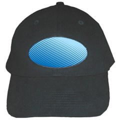 Blue Dot Pattern Black Cap