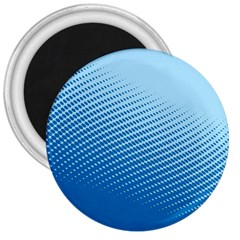 Blue Dot Pattern 3  Magnets
