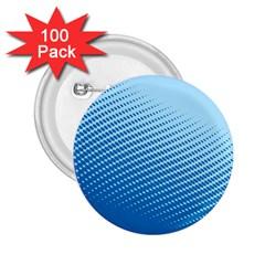 Blue Dot Pattern 2 25  Buttons (100 Pack)