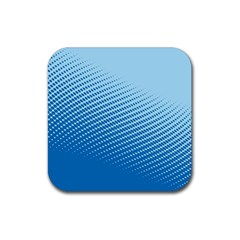 Blue Dot Pattern Rubber Coaster (square)