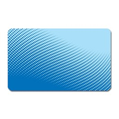 Blue Dot Pattern Magnet (rectangular)