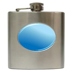Blue Dot Pattern Hip Flask (6 Oz)