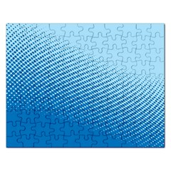Blue Dot Pattern Rectangular Jigsaw Puzzl