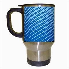 Blue Dot Pattern Travel Mugs (white)