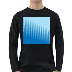Blue Dot Pattern Long Sleeve Dark T Shirts