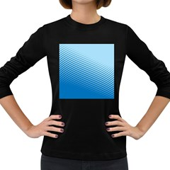 Blue Dot Pattern Women s Long Sleeve Dark T Shirts