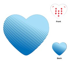 Blue Dot Pattern Playing Cards (heart)