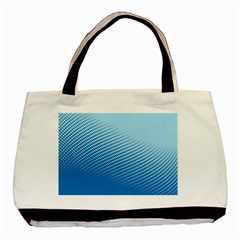 Blue Dot Pattern Basic Tote Bag