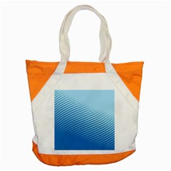 Blue Dot Pattern Accent Tote Bag