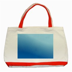 Blue Dot Pattern Classic Tote Bag (red)
