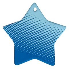 Blue Dot Pattern Star Ornament (two Sides)