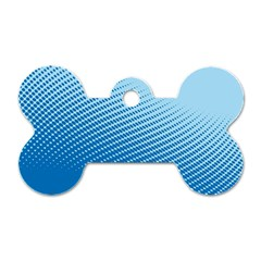 Blue Dot Pattern Dog Tag Bone (one Side)