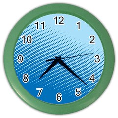 Blue Dot Pattern Color Wall Clocks