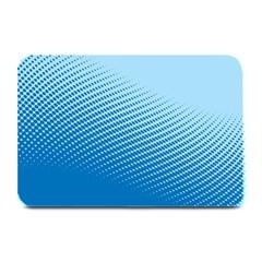 Blue Dot Pattern Plate Mats