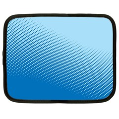 Blue Dot Pattern Netbook Case (Large)