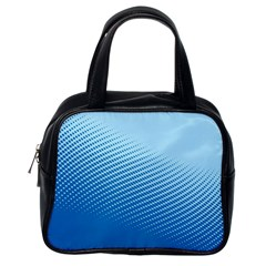 Blue Dot Pattern Classic Handbags (one Side)