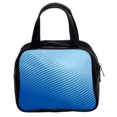 Blue Dot Pattern Classic Handbags (2 Sides)