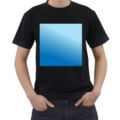 Blue Dot Pattern Men s T Shirt (black)
