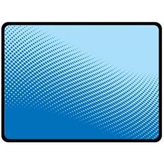 Blue Dot Pattern Fleece Blanket (large)