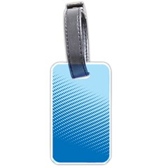 Blue Dot Pattern Luggage Tags (One Side)