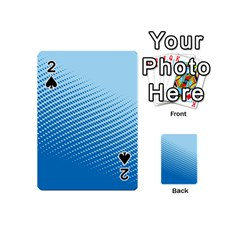 Blue Dot Pattern Playing Cards 54 (mini)