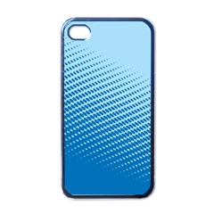 Blue Dot Pattern Apple Iphone 4 Case (black)