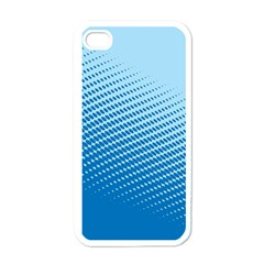 Blue Dot Pattern Apple Iphone 4 Case (white)