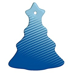 Blue Dot Pattern Christmas Tree Ornament (two Sides)