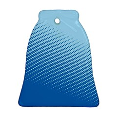 Blue Dot Pattern Bell Ornament (two Sides)