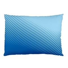 Blue Dot Pattern Pillow Case (two Sides)