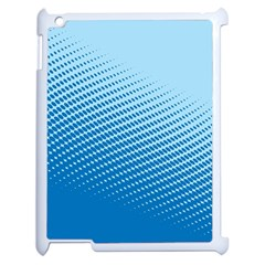 Blue Dot Pattern Apple Ipad 2 Case (white)