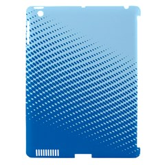 Blue Dot Pattern Apple Ipad 3/4 Hardshell Case (compatible With Smart Cover)