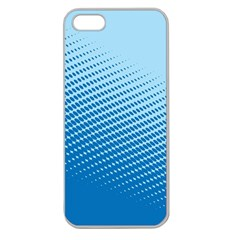 Blue Dot Pattern Apple Seamless Iphone 5 Case (clear)