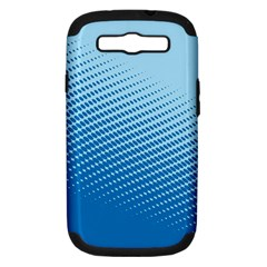 Blue Dot Pattern Samsung Galaxy S Iii Hardshell Case (pc+silicone)