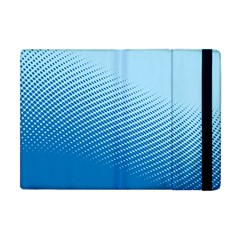 Blue Dot Pattern Apple Ipad Mini Flip Case