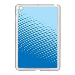 Blue Dot Pattern Apple Ipad Mini Case (white)