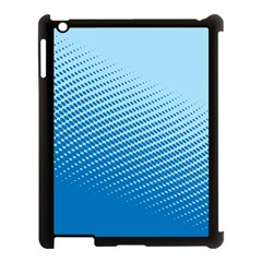 Blue Dot Pattern Apple Ipad 3/4 Case (black)