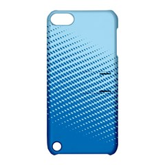 Blue Dot Pattern Apple Ipod Touch 5 Hardshell Case With Stand