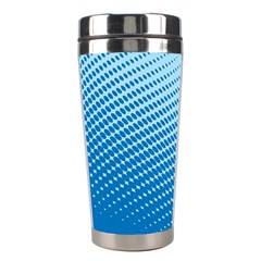 Blue Dot Pattern Stainless Steel Travel Tumblers